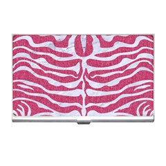 Skin2 White Marble & Pink Denim Business Card Holders by trendistuff