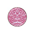 SKIN2 WHITE MARBLE & PINK DENIM Hat Clip Ball Marker (10 pack) Front