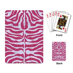 Skin2 White Marble & Pink Denim Playing Card