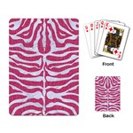 SKIN2 WHITE MARBLE & PINK DENIM Playing Card Back