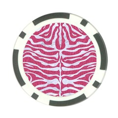 Skin2 White Marble & Pink Denim Poker Chip Card Guard