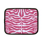 SKIN2 WHITE MARBLE & PINK DENIM Netbook Case (Small)  Front