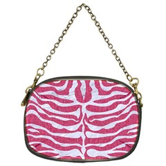Skin2 White Marble & Pink Denim Chain Purses (one Side)
