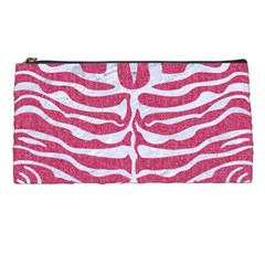 Skin2 White Marble & Pink Denim Pencil Cases by trendistuff