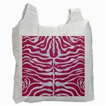 SKIN2 WHITE MARBLE & PINK DENIM Recycle Bag (Two Side)  Front