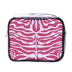 Skin2 White Marble & Pink Denim Mini Toiletries Bags