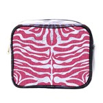 SKIN2 WHITE MARBLE & PINK DENIM Mini Toiletries Bags Front