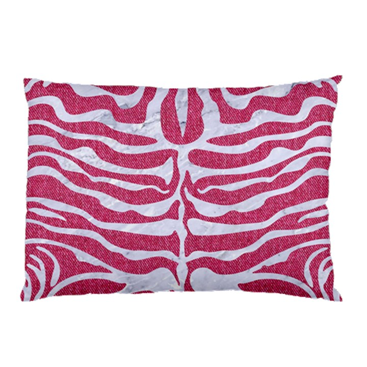 SKIN2 WHITE MARBLE & PINK DENIM Pillow Case (Two Sides)