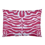 SKIN2 WHITE MARBLE & PINK DENIM Pillow Case (Two Sides) Back