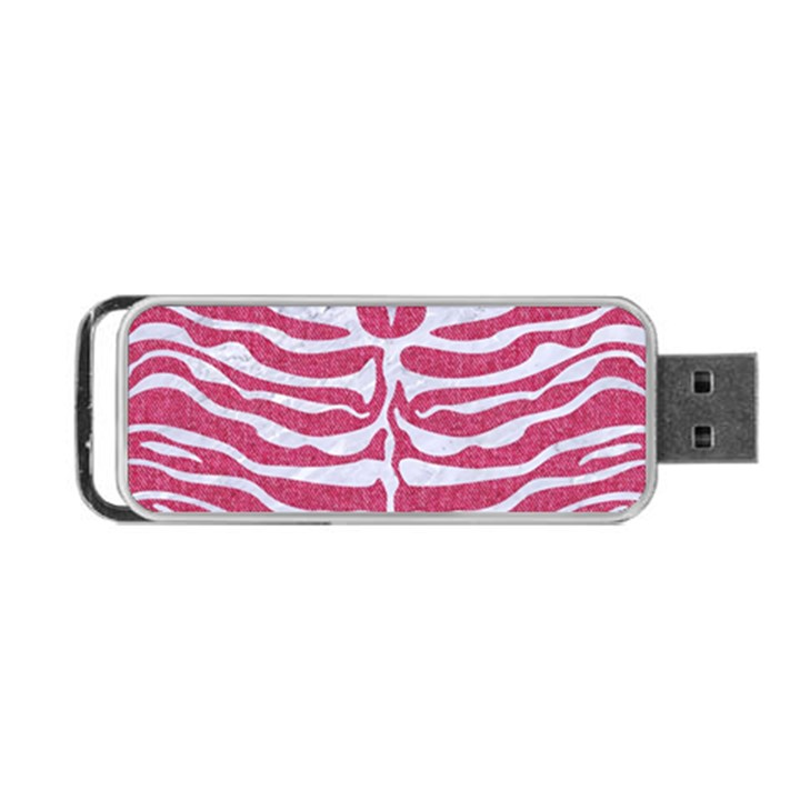SKIN2 WHITE MARBLE & PINK DENIM Portable USB Flash (One Side)