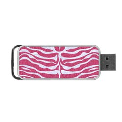 Skin2 White Marble & Pink Denim Portable Usb Flash (two Sides) by trendistuff
