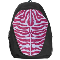 Skin2 White Marble & Pink Denim Backpack Bag