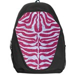 SKIN2 WHITE MARBLE & PINK DENIM Backpack Bag Front