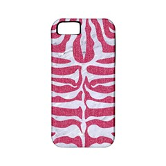 Skin2 White Marble & Pink Denim Apple Iphone 5 Classic Hardshell Case (pc+silicone)