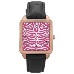 Skin2 White Marble & Pink Denim Rose Gold Leather Watch