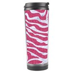 SKIN2 WHITE MARBLE & PINK DENIM Travel Tumbler Left