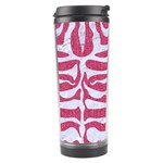 SKIN2 WHITE MARBLE & PINK DENIM Travel Tumbler Center
