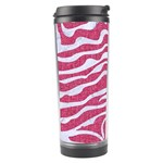 SKIN2 WHITE MARBLE & PINK DENIM Travel Tumbler Right