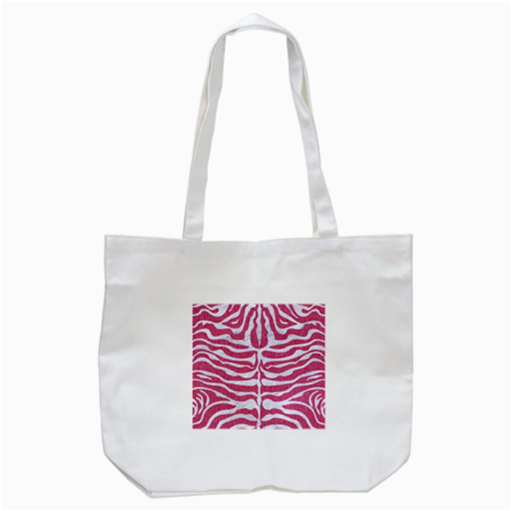 SKIN2 WHITE MARBLE & PINK DENIM Tote Bag (White)