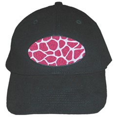 Skin1 White Marble & Pink Denim (r) Black Cap
