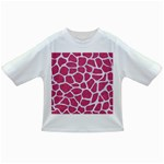 SKIN1 WHITE MARBLE & PINK DENIM (R) Infant/Toddler T-Shirts Front