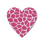 SKIN1 WHITE MARBLE & PINK DENIM (R) Heart Magnet Front