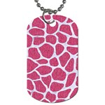 SKIN1 WHITE MARBLE & PINK DENIM (R) Dog Tag (One Side) Front
