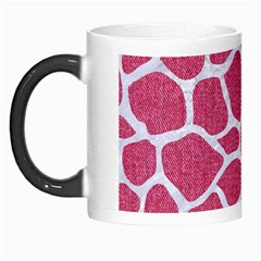 Skin1 White Marble & Pink Denim (r) Morph Mugs by trendistuff