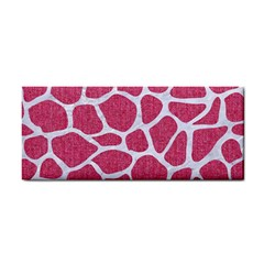 Skin1 White Marble & Pink Denim (r) Hand Towel by trendistuff