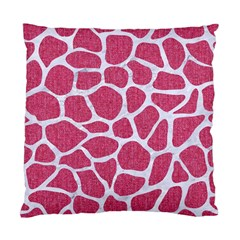 Skin1 White Marble & Pink Denim (r) Standard Cushion Case (one Side) by trendistuff