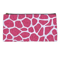 SKIN1 WHITE MARBLE & PINK DENIM (R) Pencil Cases