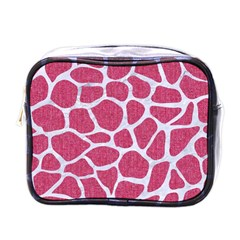 Skin1 White Marble & Pink Denim (r) Mini Toiletries Bags by trendistuff