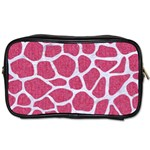 SKIN1 WHITE MARBLE & PINK DENIM (R) Toiletries Bags Front