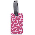 SKIN1 WHITE MARBLE & PINK DENIM (R) Luggage Tags (One Side)  Front