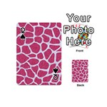 SKIN1 WHITE MARBLE & PINK DENIM (R) Playing Cards 54 (Mini)  Front - SpadeQ