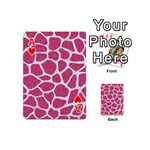 SKIN1 WHITE MARBLE & PINK DENIM (R) Playing Cards 54 (Mini)  Front - HeartA