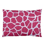 SKIN1 WHITE MARBLE & PINK DENIM (R) Pillow Case (Two Sides) Back