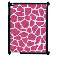 Skin1 White Marble & Pink Denim (r) Apple Ipad 2 Case (black) by trendistuff