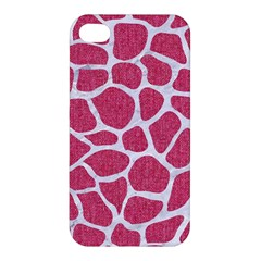Skin1 White Marble & Pink Denim (r) Apple Iphone 4/4s Hardshell Case by trendistuff