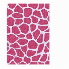 SKIN1 WHITE MARBLE & PINK DENIM (R) Large Garden Flag (Two Sides)