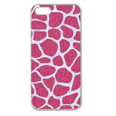 Skin1 White Marble & Pink Denim (r) Apple Seamless Iphone 5 Case (clear) by trendistuff