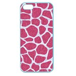 SKIN1 WHITE MARBLE & PINK DENIM (R) Apple Seamless iPhone 5 Case (Color) Front
