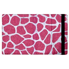 Skin1 White Marble & Pink Denim (r) Apple Ipad 3/4 Flip Case by trendistuff