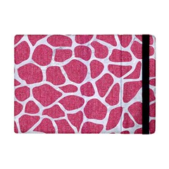 Skin1 White Marble & Pink Denim (r) Apple Ipad Mini Flip Case