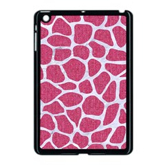Skin1 White Marble & Pink Denim (r) Apple Ipad Mini Case (black) by trendistuff