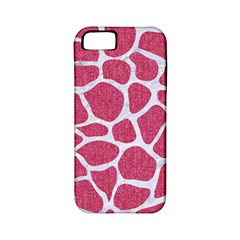 Skin1 White Marble & Pink Denim (r) Apple Iphone 5 Classic Hardshell Case (pc+silicone)