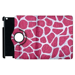 Skin1 White Marble & Pink Denim (r) Apple Ipad 3/4 Flip 360 Case by trendistuff