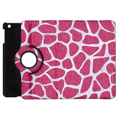 Skin1 White Marble & Pink Denim (r) Apple Ipad Mini Flip 360 Case by trendistuff