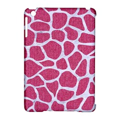Skin1 White Marble & Pink Denim (r) Apple Ipad Mini Hardshell Case (compatible With Smart Cover) by trendistuff