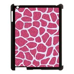 SKIN1 WHITE MARBLE & PINK DENIM (R) Apple iPad 3/4 Case (Black) Front